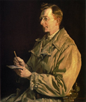 George Lambert's portrait of CEW Bean, 1935