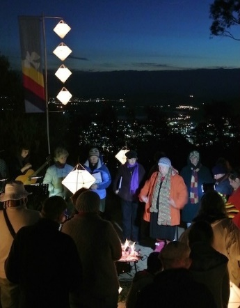 People gathered at the Anzac Eve Vigil 2013