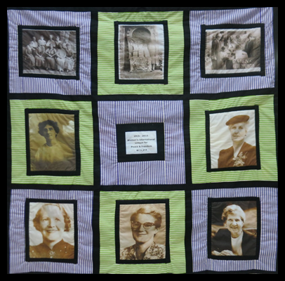 Front view of the 1915 Peace Women's Photo Quilt [2015]