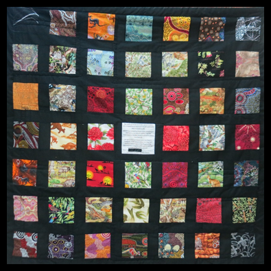 Back view of the 1915 Peace Women's Photo Quilt [2015]