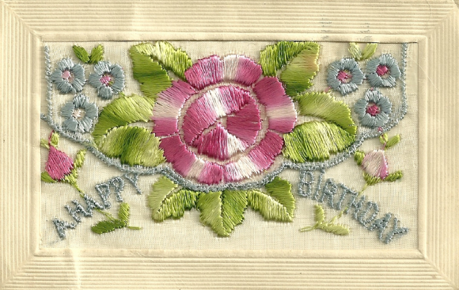 Card 2 – front, embroidered